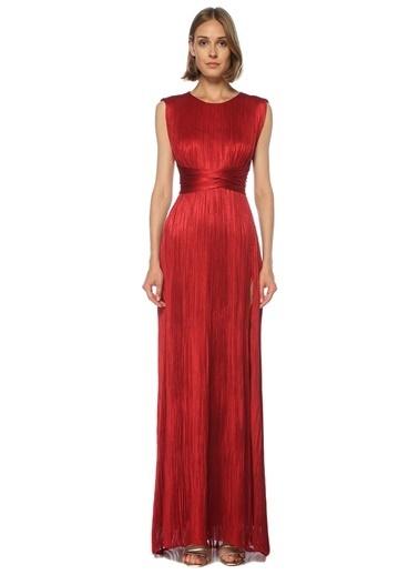 Maria Lucia Hohan Maria Lucia Hohan Adela  Pilili Maksi İpek Abiye Elbise 101541260 Kırmızı